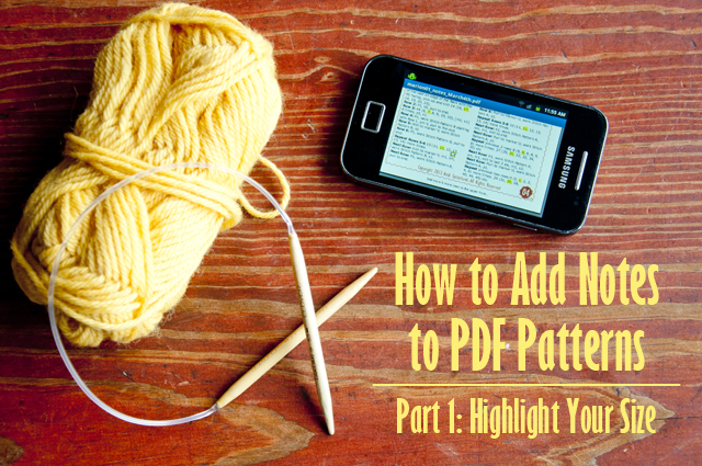 How to add notes to pdf patterns part 1