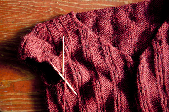 burgundy_ultraalpacalight_sleeve_WIP