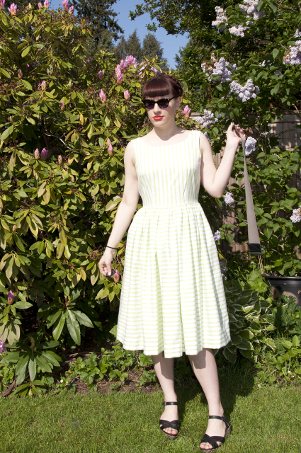 A Striped Butterick 5748
