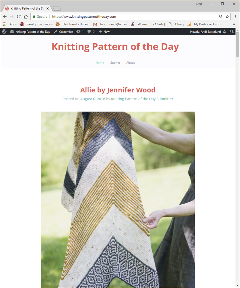 Knitting Pattern of the Day